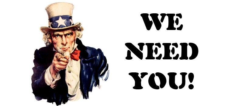 Te necesitamos